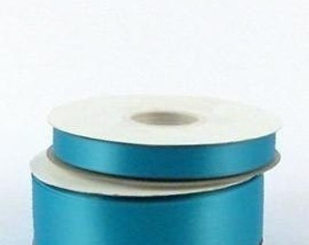 5/8 inch x 100 yds Double Face Satin Ribbon -- TURQUOISE