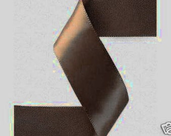 3/8 inch x 100 yds Double Face Satin Ribbon -- BROWN