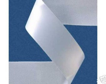 3/8 inch x 100 yds Double Face Satin Ribbon -- WHITE