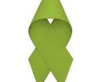 3/8 inch x 50 yds Grosgrain Ribbon -- Apple Green