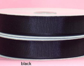 3/8 inch x 50 yds Grosgrain Ribbon -- BLACK