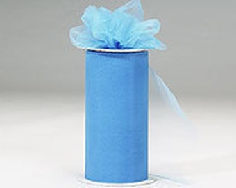 6 inch x 75 ft Nylon Tulle Roll -- FRENCH BLUE