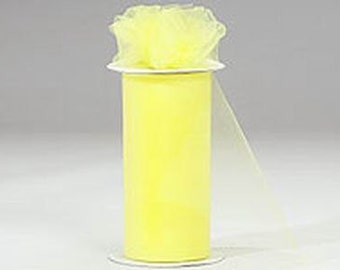 6 inch x 75 ft Nylon Tulle Roll -- LEMON