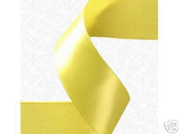 """1.5"""" x 50 yds SINGLE FACE Satin Ribbon - Canary Yellow"""