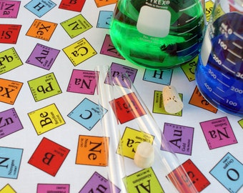 Periodic Elements Chemistry Science Fabric - 1 Yard
