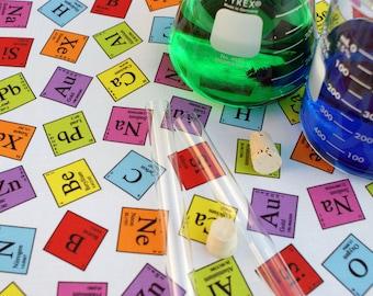 Periodic Elements Chemistry Science Cotton Fabric Fat Quarter