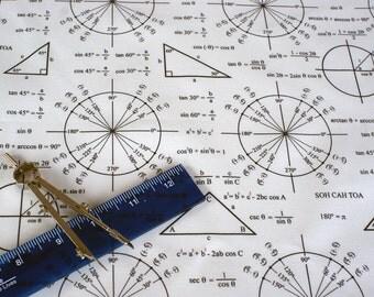 Trig and Triangles Math Fabric Fat Quarter