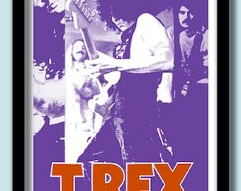 Marc Bolan T.Rex Poster.  1971 Concert  Large 40 X 60 cm  ( A2) Print