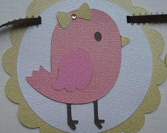 SWEET BIRDIE Custom Name Banner Baby Shower Birthday Party Handmade Christmas Gift