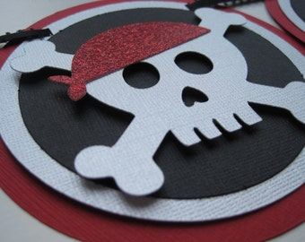 SWASHBUCKLING PIRATE pAAARRRRty Custom Name Banner