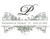 Vintage Romantic Custom Wedding Monogram