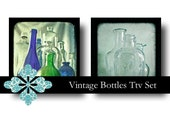 Vintage Bottles Ttv Photo Set - Digital Download - royalty free fine art photography square prints through the viewfinder