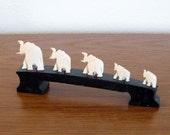 Handcrafted Safari Elephant Family