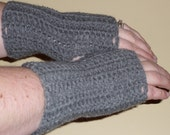Grey Fingerless Gloves