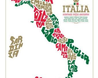 Italy Region Map