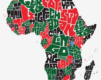 Africa Countries Type Map