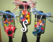Handmade Candy Jars Set of 3  Teachers Gifts