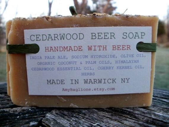 Cedarwood Beer Handmade Soap