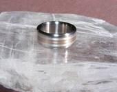 Titanium 18K Rose or Yellow Triple Element Wedding Band Ring