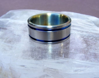 abyss titanium wedding ring