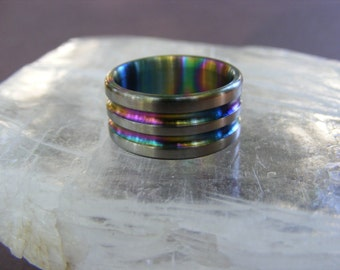 Titanium Rainbow Super Sport Wedding Band Ring