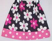 Elastic waist skirt - Fuchsia Jane - Pick your size - 12m 18m 24m 2t 3t 4t 5 6 7 8 10 years