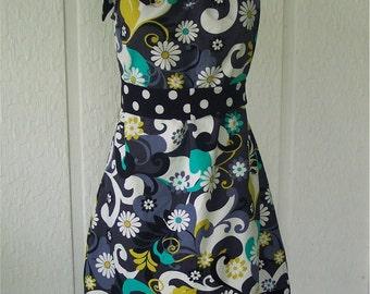 Adult Size PillowCase Dress - Daisy Doodle -  Pick your size 4 through 14 - Tie top dress