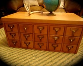 Reserved for Kathy Vintage Library Card Catalog File