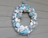 Clearance - Potpourri Wreath 11 in. Scented Beaded Silver and Blue