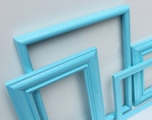 Reclaimed Aqua Frame Collection Set of 4