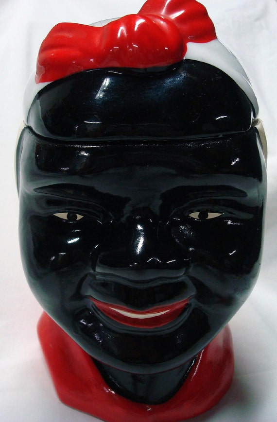 Vintage Aunt Jemima Mammy Large Ceramic Cookie Biscuit Jar Black Americana Collectibles