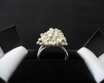 Cloud Nine ring sterling silver