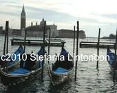 Gondolas - Venice, Italy - Digital JPEG File Emailed to you
