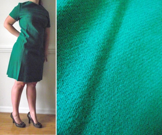 A Line Dress Size 18 20 22 Plus Size Wiggle Pin Up Retro Mad Men 60s Green Vintage