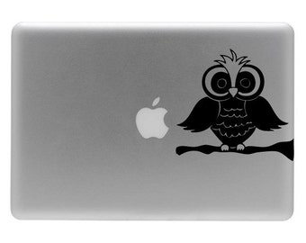 Owl on a Limb - Vinyl Decal Sticker for the Macbook