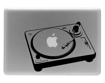 Turntable - Vinyl Decal Sticker for a Laptop or Macbook
