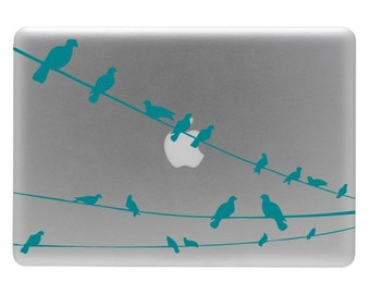 Birds on a Wire - Vinyl Decal Sticker for a laptop