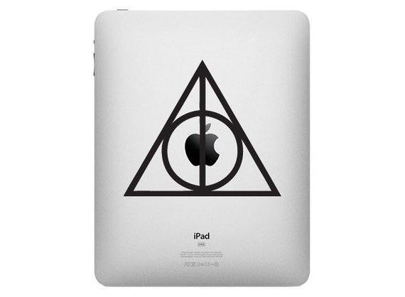 Harry Potter Deathly Hallows Symbol - Vinyl Decal Sticker for you Apple IPAD