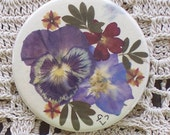 Real pressed flower purse mirror- Item 4