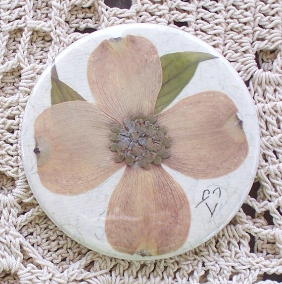 Featured in a treasury...Real pressed flower purse mirror-Item 5