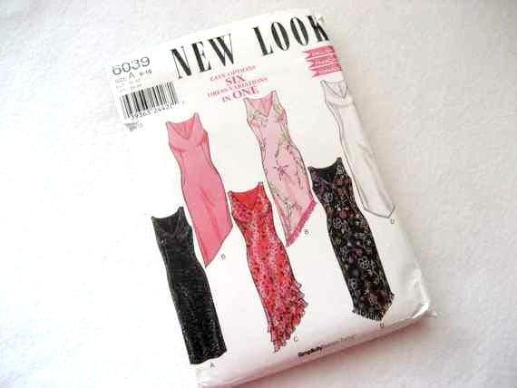 New Look Dress Pattern 6039 size 6-16