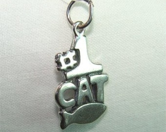 No. 1 CAT Charm Great Gift in Sterling Silver