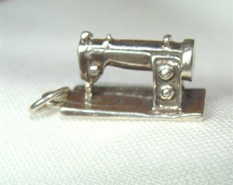 Modern Sewing Machine CHARM in Sterling SILVER