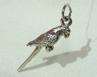 McCaw Bird PARROT 3D Charm in STERLING Silver Made in USA