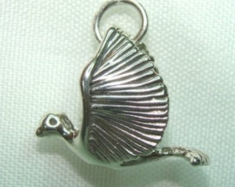USA Made STERLING Silver Dove BIRD Charm