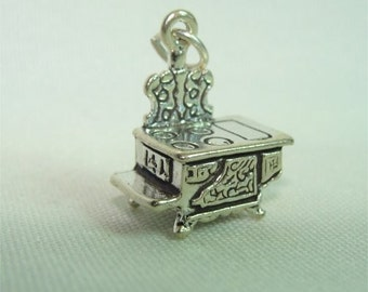L.O. Old Time STOVE Charm in STERLING Silver