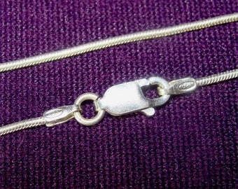 "24"" SNAKE Chain of STERLING Silver Made in ITALY"