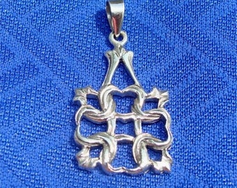 Celtic Knot STERLING Pendant FOREVER Love