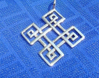 Celtic Knot of Four SEASONS in Sterling SILVER