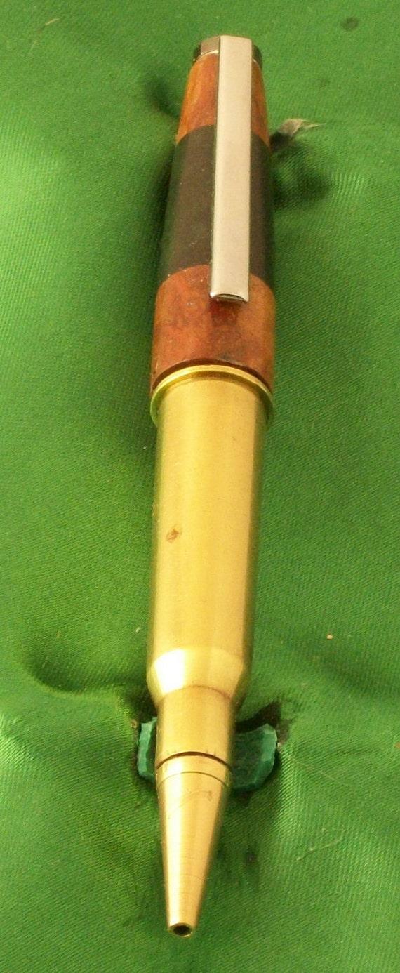 Handcrafted Twist type Wooden Pen-Chrome / Gun Metal / Brass- Austr. Morell & Green Acrylic